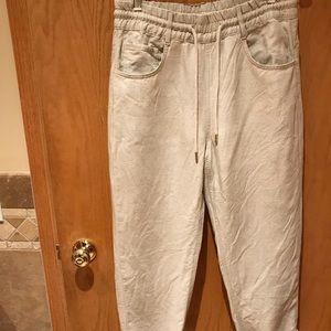 Zara linen blend high-waist pants M